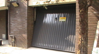 PORTA GARAGE MARRONE SCURO